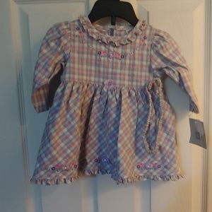 6 mos. Little Me 2 Pc. Dress Set.  New